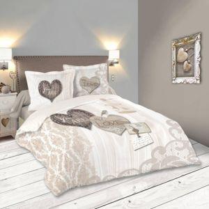 lefebvre textile parure de lit bonheur 220 x 240 cm gris 220cm x 240 cm pas cher achat. Black Bedroom Furniture Sets. Home Design Ideas