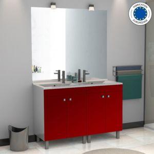 Creazur Meuble salle de bain éCOLINE 140 double vasque résine
