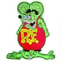 Universel - gros patch rat fink vert et rouge 20.5cm kustom kulture ecusson dos veste blouson