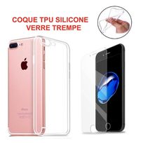 - Pack Coque Silicone Clair Souple + Film Protection Verre Hd Iphone 6 6S