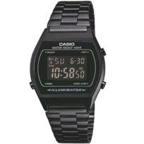 Casio - B640wb-1b Montre vintage 100% acier noir. Alarme chrono étanche 50 mètres