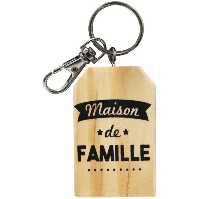 buying new super cute low price Porte Clés Collection Famille Maison De Famille Bois