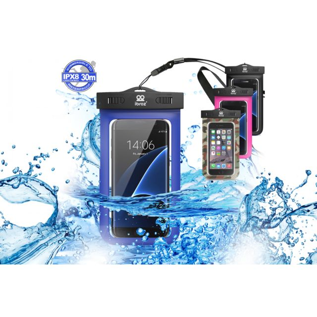 14ae7dc569 Ibroz - Pochette bleue Etanche pour Smartphone jusqu'à 5.7 pouces - pas cher  Achat / Vente Caisson Etanche - RueDuCommerce