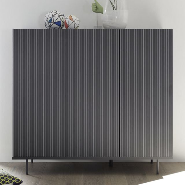 Sofamobili Buffet haut gris design Pescara 2