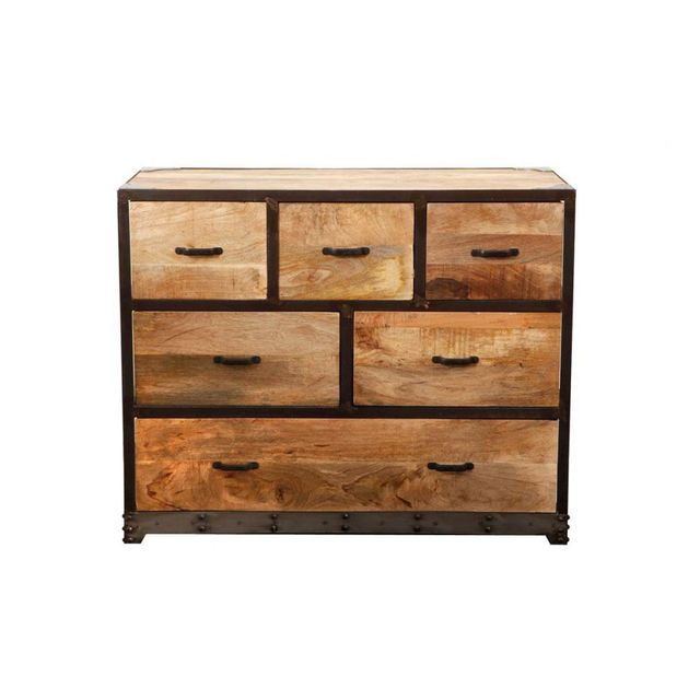 Miliboo Commode Industrielle Bois Massif Industria Pas Cher