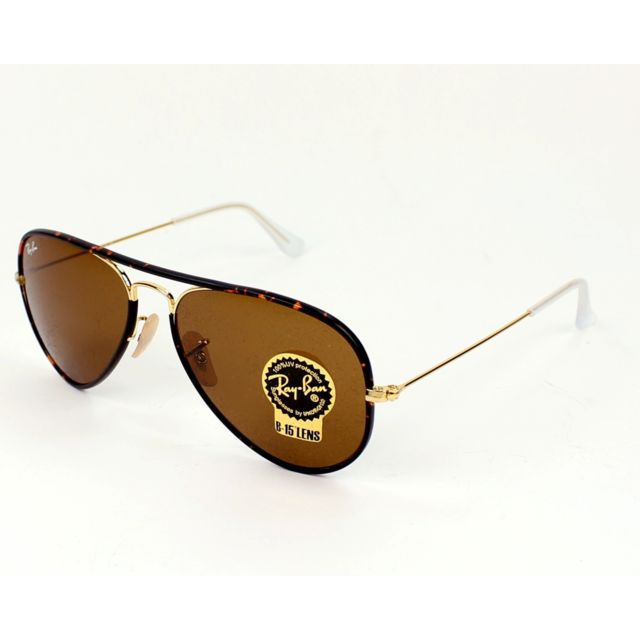 Ray-Ban - Ray Ban - Aviator Full Color Rb3025JM 001 Or - Marron mix ... 85590d697296