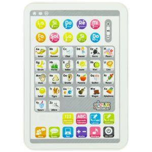 promobo tablette lectronique jouet ducatif jeu enfant 50 fonctions blanc pas cher achat. Black Bedroom Furniture Sets. Home Design Ideas