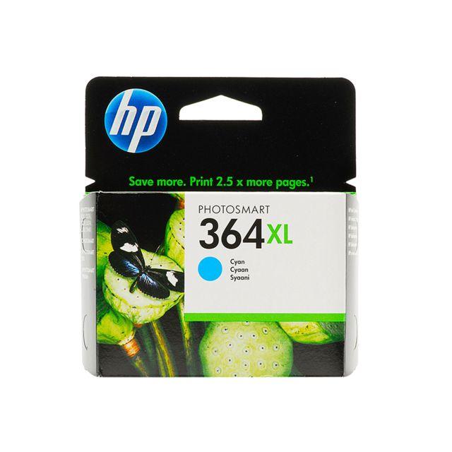 HP CB323EE - Cartouche d'encre 364XL Cyan HP 364XL Cartouche d'encre Cyan grande capacité authentique pour HP Photosmart 5520/5522/5524/5525/6525/7520, HP Officejet 4620, HP Deskjet 3520
