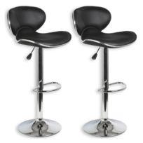 bdf3506baa290 IDIMEX - Lot de 2 tabourets de bar LOUNGE chaise haute pour  cuisine comptoir