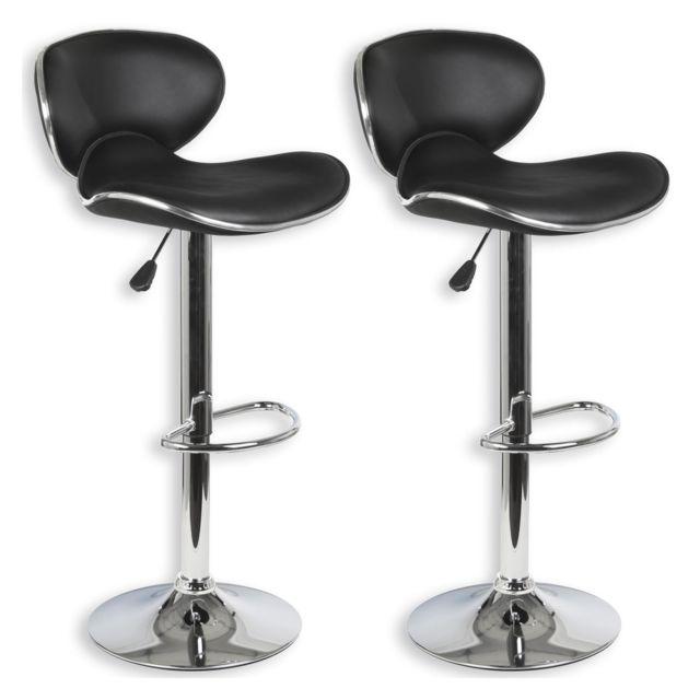 Idimex Lot De 2 Tabourets De Bar Lounge Chaise Haute Pour