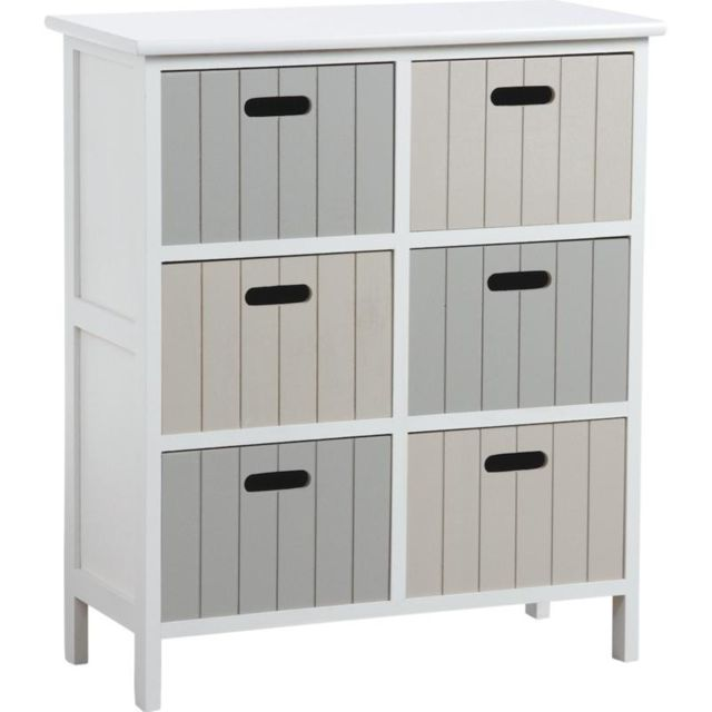 AUBRY GASPARD Commode 6 tiroirs en medium Tradition
