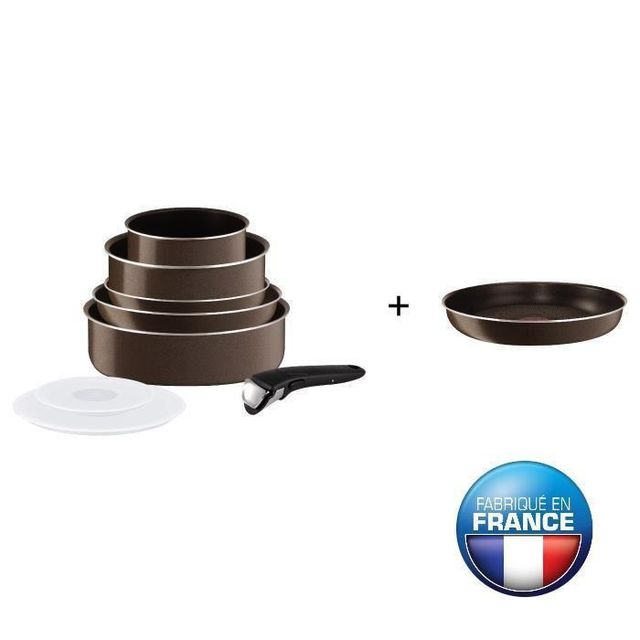 Tefal - Ingenio Essential Batterie de cuisine tobacco 9 pieces L2079902 16-20-22-24-26cm Tous feux sauf induction