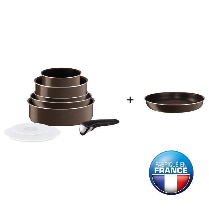 Ingenio Essential Batterie de cuisine tobacco 9 pieces L2079902 16-20-22-24-26cm Tous feux sauf induction