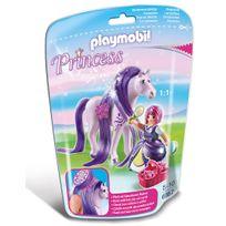 PLAYMOBIL - PRINCESS - Princesse Violette avec cheval à coiffer - 6167