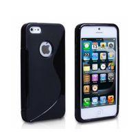 Lapinette - Coque Gel Vague S Pour Apple Iphone 5 - 5s - Noir