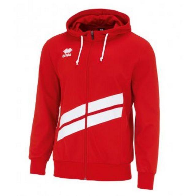 Errea Sweat-shirt zippé Jill - Mixte XL, Rouge / blanc Utpc3270