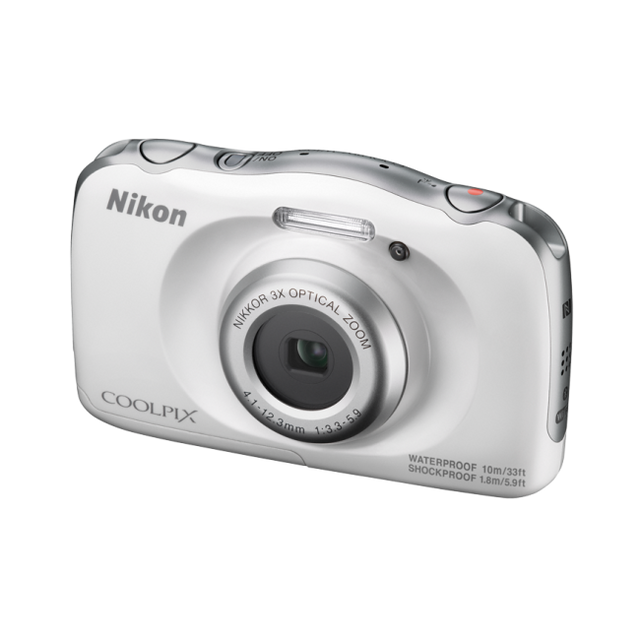 nikon appareil photo compact coolpix w100 blanc pas cher achat vente appareil compact. Black Bedroom Furniture Sets. Home Design Ideas