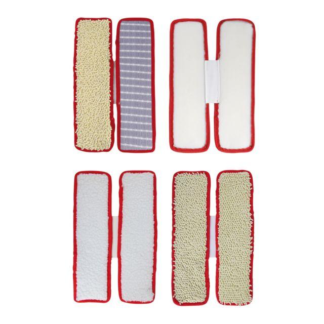 DOMOCLIP Balai vibrant nettoyant DOH116 Nettoyeur de sols à vibrations rapides, nettoie, désincruste, lustre, tête nettoyante pivotante - 4 sets de patins réutilisables et lavables inclus : spécial tapis et moquettes et s