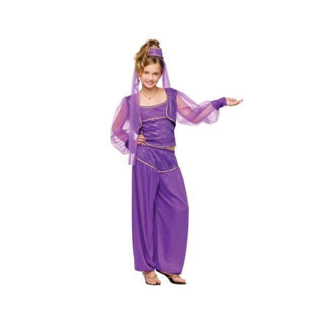 Fun World Girls Dreamy Genie Costume Purple Large 12-14