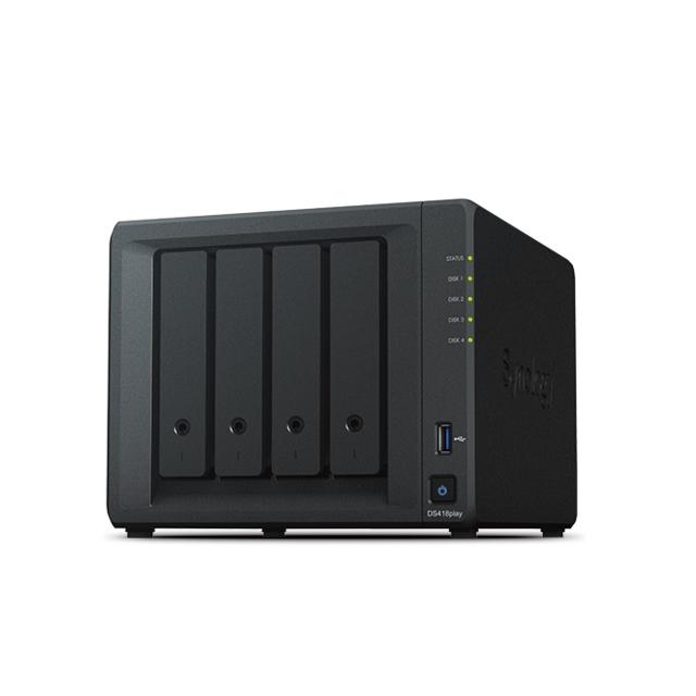 SYNOLOGY - DS418play - 4 baies multimédia transcodeur 4K
