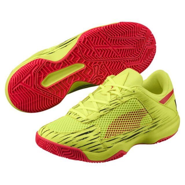 Puma Chaussures Junior Evospeed Indoor NetFit Euro 5 jaune