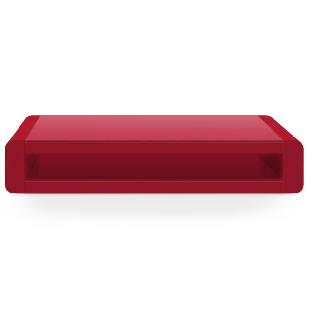 MENZZO Table basse Florida Rouge