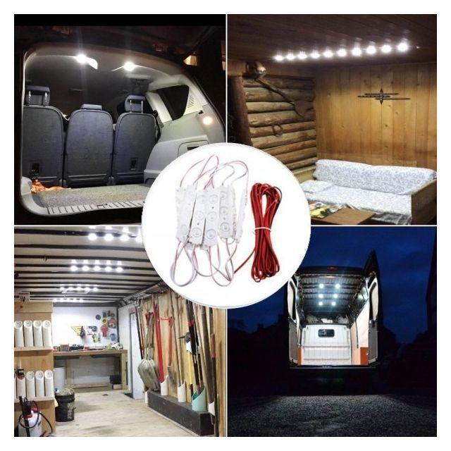 alpexe lampe intrieur auto 30 leds plafonnier vhicule de chantier camion camping car