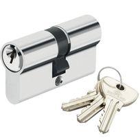 Bricorama - Cylindre de porte 27 x 27 mm barillet 3 clés Canon double entrée