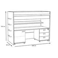 plan travail profondeur 90 cm achat plan travail profondeur 90 cm pas cher rue du commerce. Black Bedroom Furniture Sets. Home Design Ideas