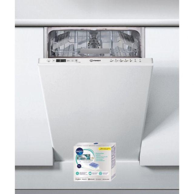 Indesit Lave-vaisselle tout intégrable encastrable 49dB A+ 10 couverts 45cm Moteur Induction