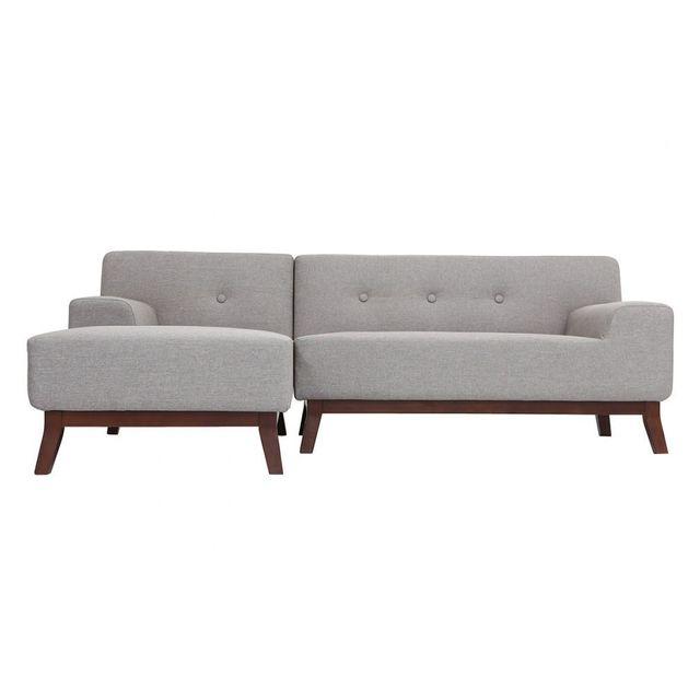 MILIBOO Canapé d'angle design VILA gris
