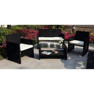 calvi salon de jardin r sine tress e 4 places pas cher achat vente rueducommerce. Black Bedroom Furniture Sets. Home Design Ideas