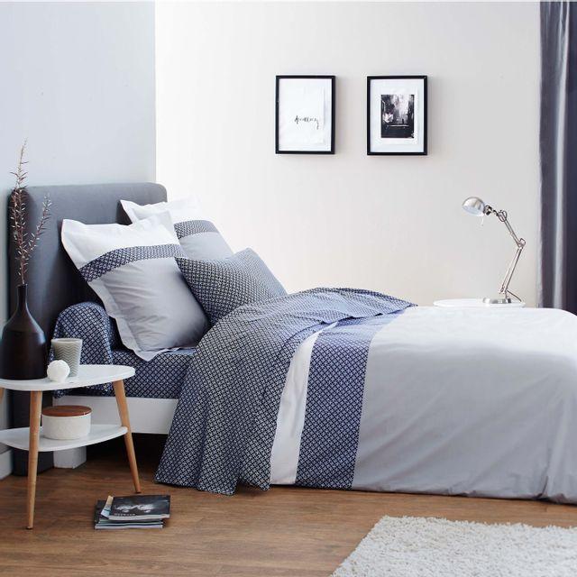 origin housse de couette claudia en bambou gris 140 x 200 cm pas cher achat vente. Black Bedroom Furniture Sets. Home Design Ideas