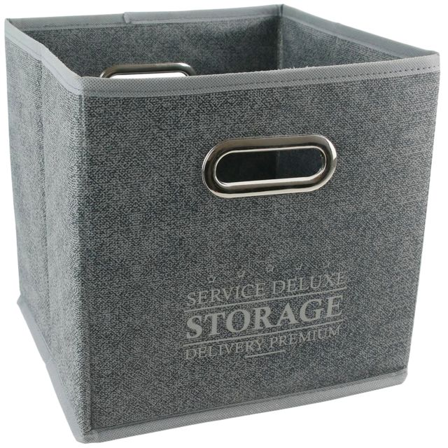 Rangement Et Organisation Panier Cube De Rangement Pliable Gris Cuisine Maison Hotelaomori Co Jp