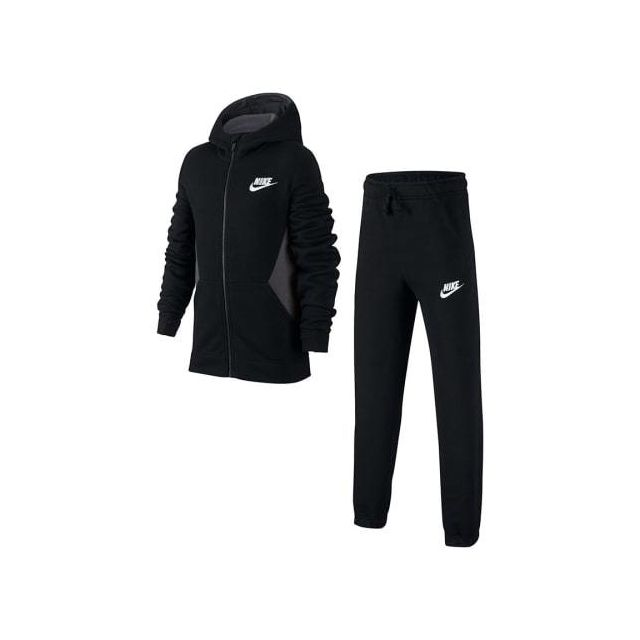 chaussures de sport b1e1b df4e8 Nike - Veste Sportswear noire grise pour enfant - pas cher ...