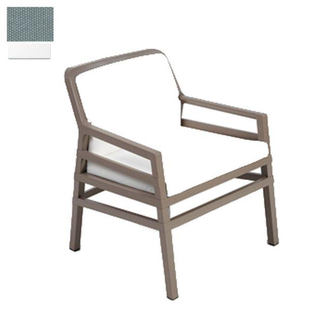 NARDI Chaise lounge d'extérieur Aria Fit - blanc - gris