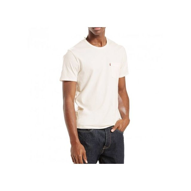 Pas Pocket Levi's Homme Tee Blanc Cher Shirt Achat Sunset 2WHID9E