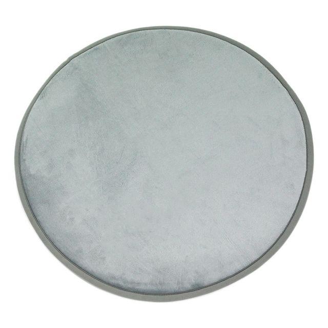 Mon Beau Tapis Tapis rond gris nuage extra doux diam. 70cm Flanelle