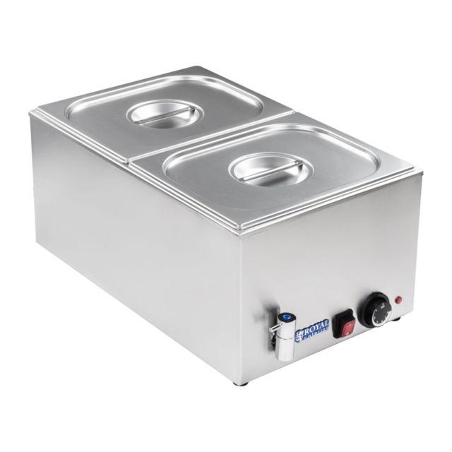 Helloshop26 - Bain-marie électrique professionnel bac Gn 1/2 avec robinet de vidange 1 200 watts 3614102