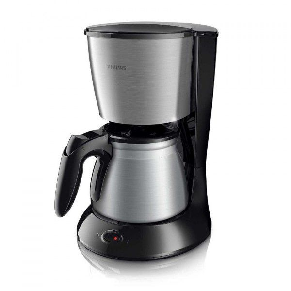 philips cafeti re filtre 10 15 tasses daily noire verseuse m tal hd7469 20 achat cafeti re. Black Bedroom Furniture Sets. Home Design Ideas