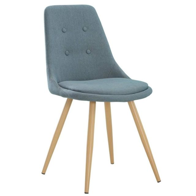 inside 75 chaise design scandinave midgard tissu bleu pas cher achat vente chaises. Black Bedroom Furniture Sets. Home Design Ideas