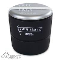 Casabento - Boîte Bento Rond Timeless Noir - Acier