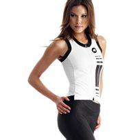 Assos - Superleggera Lady Blanc Et Noir Débardeur vélo femme