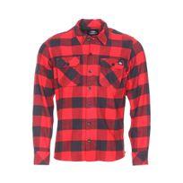 Dickies - Chemise droite Sacramento en coton à carreaux rouges et noirs