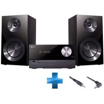 LG - Pack : Chaine Hifi CM2460 + Cable double Jack