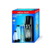 Sodastream - Machine à gazéifier Mega Pack Spirit Noire - Spiritmegapackn