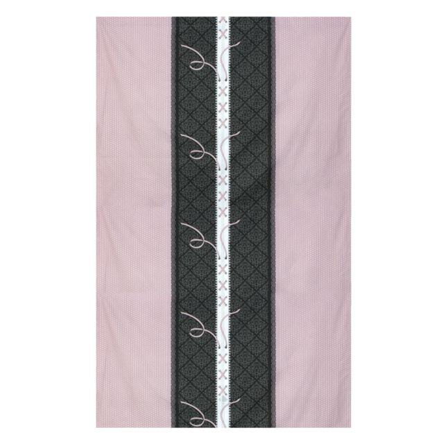 linnea drap plat 280x310 cm 100 coton glamour rose multicolore nc pas cher achat vente. Black Bedroom Furniture Sets. Home Design Ideas