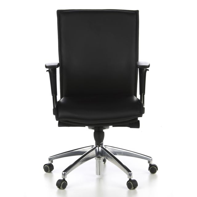Hjh Office Siège de bureau / Fauteuil de direction Murano 10, cuir noir