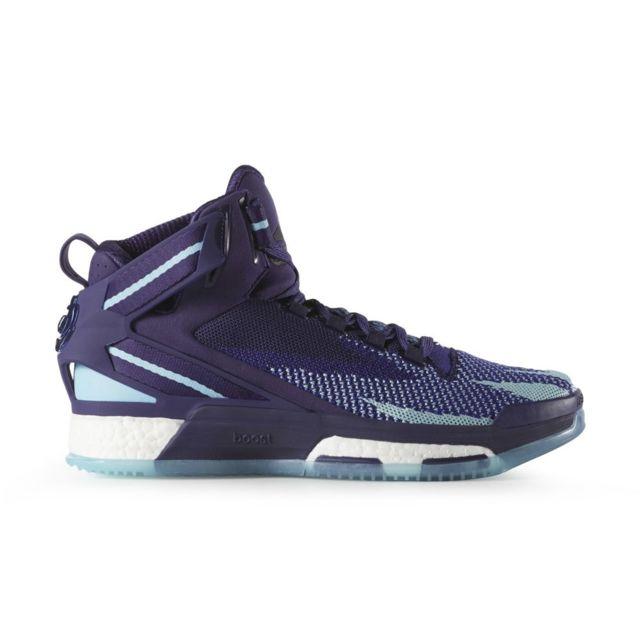 new style f64f8 5eb45 Adidas - D Rose 6 Boost Primeknit Bleu marine - 40 2 3 - 40 2 3 - pas cher  Achat   Vente Chaussures basket - RueDuCommerce