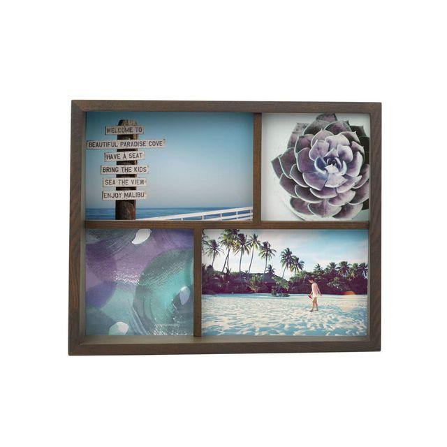Sologne Cadre photo en bois 4 vues noyer Egde